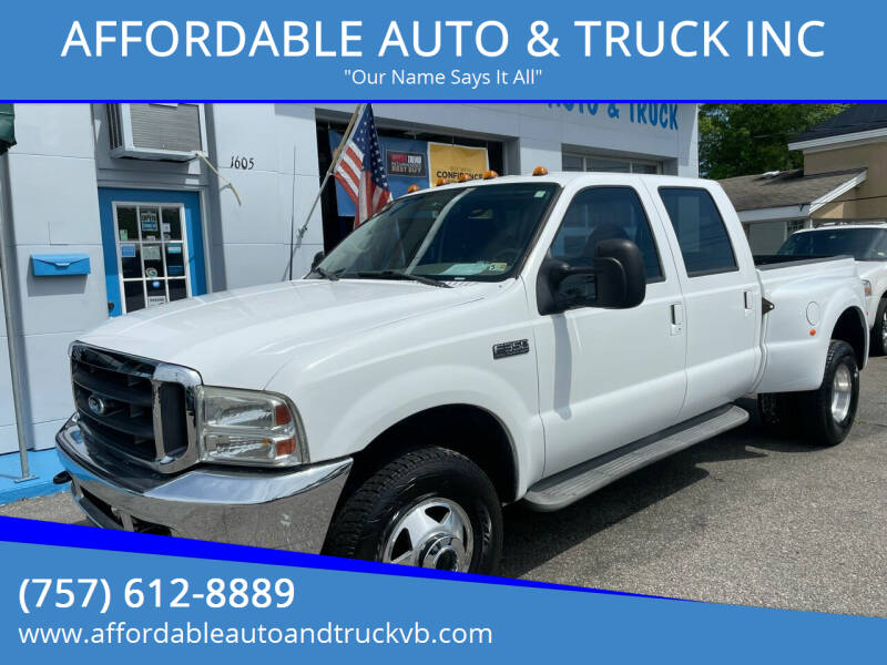 2001 Ford F-350 Super Duty for sale at AFFORDABLE AUTO & TRUCK INC in Virginia Beach VA