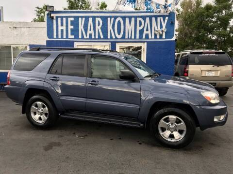 2005 Toyota 4Runner for sale at The Kar Kompany Inc. in Denver CO