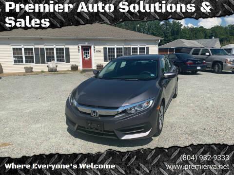 2016 Honda Civic for sale at Premier Auto Solutions & Sales in Quinton VA