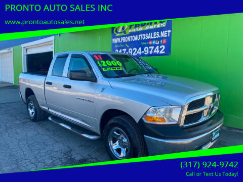 2011 RAM Ram Pickup 1500 for sale at PRONTO AUTO SALES INC in Indianapolis IN