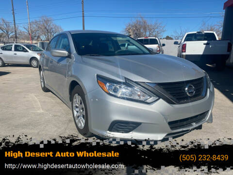 2016 Nissan Altima for sale at High Desert Auto Wholesale in Albuquerque NM