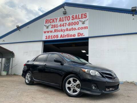 2011 Toyota Corolla for sale at Ricky Auto Sales in Houston TX