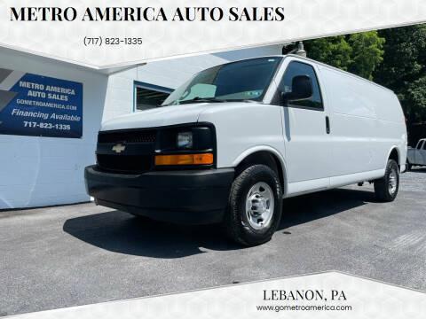 2017 Chevrolet Express Cargo for sale at METRO AMERICA AUTO SALES of Lebanon in Lebanon PA