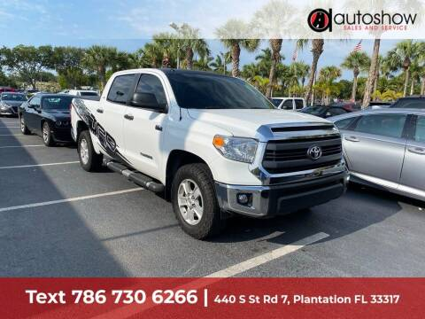 2015 Toyota Tundra for sale at AUTOSHOW SALES & SERVICE in Plantation FL
