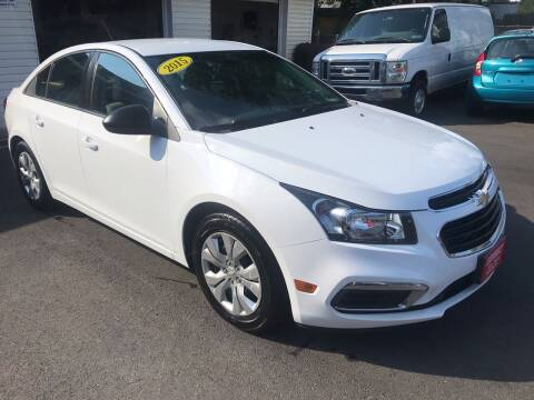 2015 Chevrolet Cruze for sale at Alexander Antkowiak Auto Sales in Hatboro PA
