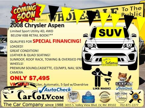 2008 Chrysler Aspen for sale at The Car Company in Las Vegas NV