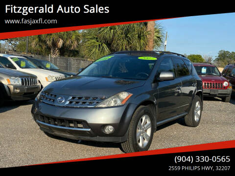 2007 Nissan Murano for sale at Fitzgerald Auto Sales in Jacksonville FL