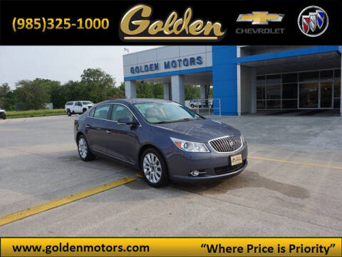 2013 Buick LaCrosse for sale at GOLDEN MOTORS in Cut Off LA