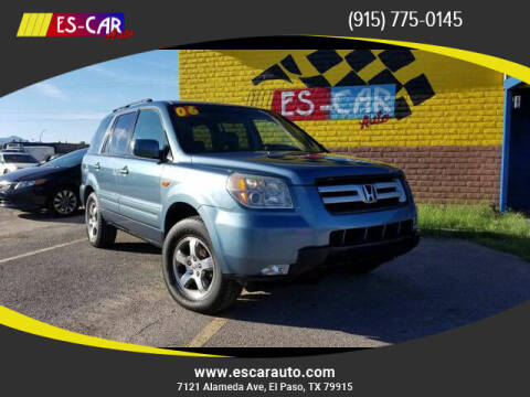 2006 Honda Pilot for sale at Escar Auto in El Paso TX