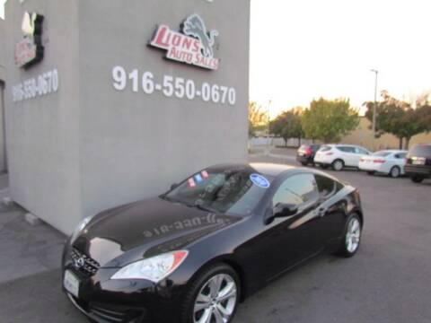 2010 Hyundai Genesis Coupe for sale at LIONS AUTO SALES in Sacramento CA