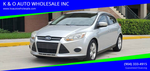 2014 Ford Focus for sale at K & O AUTO WHOLESALE INC in Jacksonville FL