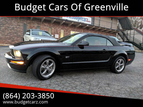 2006 Ford Mustang for sale at Budget Cars Of Greenville in Greenville SC
