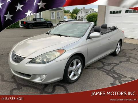 2004 Toyota Camry Solara for sale at James Motors Inc. in East Longmeadow MA