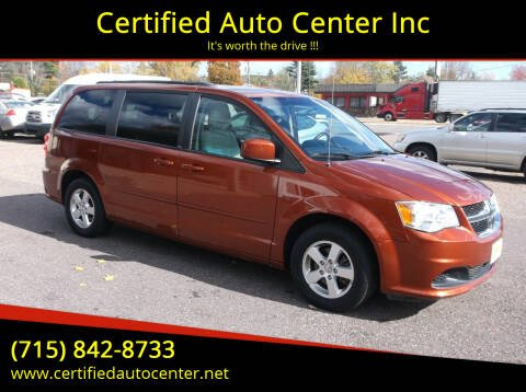 2012 Dodge Grand Caravan for sale at Certified Auto Center Inc in Wausau WI