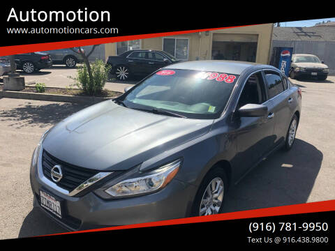 2016 Nissan Altima for sale at Automotion in Roseville CA