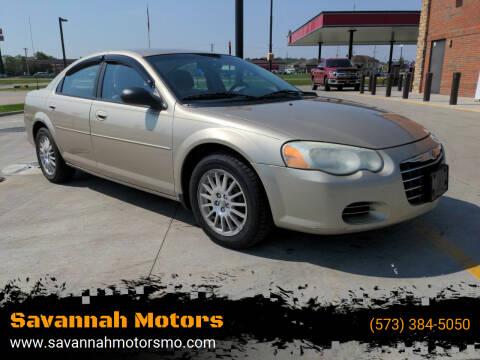 2005 Chrysler Sebring for sale at Savannah Motors in Elsberry MO