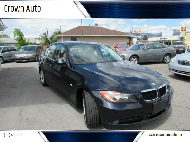 2007 BMW 3 Series for sale at Crown Auto in South Salt Lake City UT