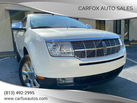 2007 Lincoln MKX for sale at Carfox Auto Sales in Tampa FL