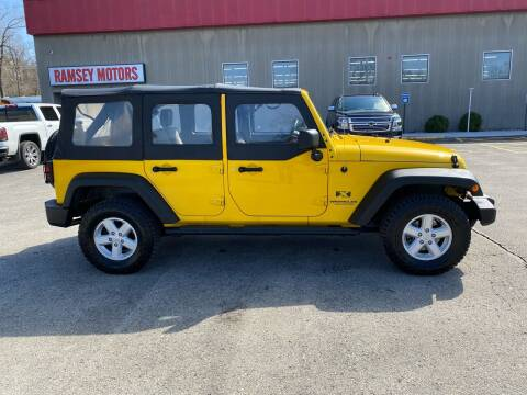 2008 Jeep Wrangler Unlimited for sale at Ramsey Motors in Riverside MO