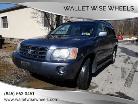 2003 Toyota Highlander for sale at Wallet Wise Wheels in Montgomery NY