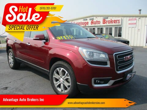 2015 GMC Acadia for sale at Advantage Auto Brokers Inc in Greeley CO