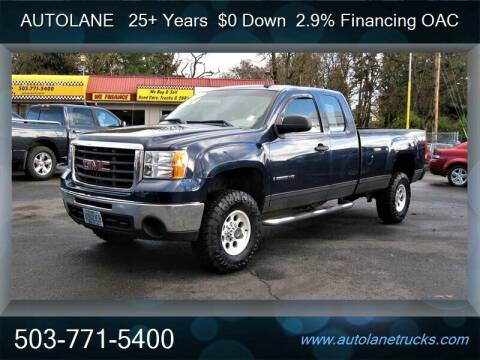 2009 GMC Sierra 2500HD for sale at Auto Lane in Portland OR