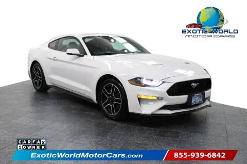 2019 Ford Mustang for sale at Exotic World Motor Cars in Addison TX