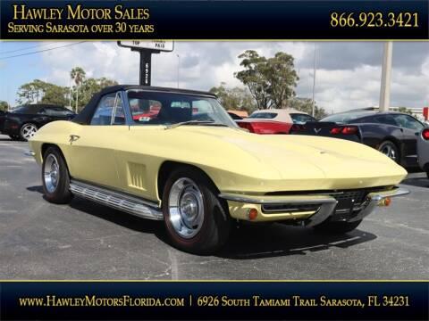 1967 Chevrolet Corvette for sale at Hawley Motor Sales in Sarasota FL