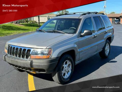 2000 Jeep Grand Cherokee for sale at Klean Motorsports in Skokie IL