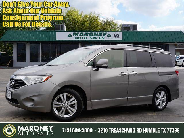 2013 Nissan Quest for sale at Maroney Auto Sales in Humble TX