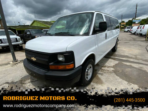 2014 Chevrolet Express Passenger for sale at RODRIGUEZ MOTORS CO. in Houston TX