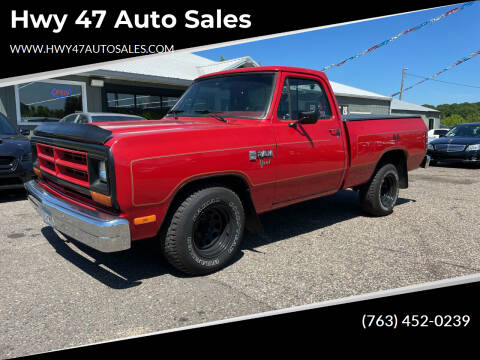 1987 Dodge RAM 150 for sale at Hwy 47 Auto Sales in Saint Francis MN