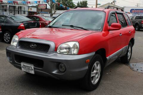 2003 Hyundai Santa Fe for sale at Grasso's Auto Sales in Providence RI