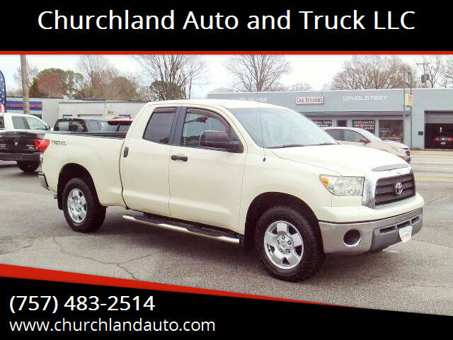 2008 Toyota Tundra for sale at Churchland Auto and Truck LLC in Portsmouth VA