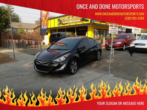 2015 Hyundai Elantra for sale at Once and Done Motorsports in Chico CA
