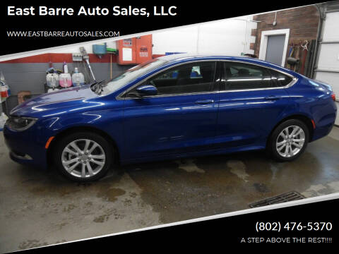 2015 Chrysler 200 for sale at East Barre Auto Sales, LLC in East Barre VT