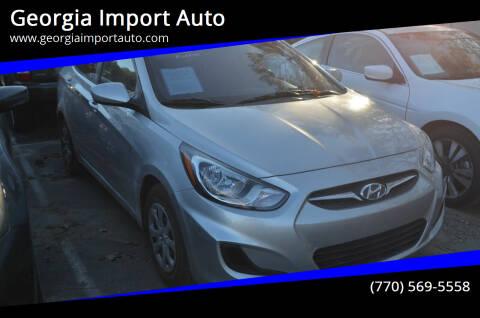2013 Hyundai Accent for sale at Georgia Import Auto in Alpharetta GA