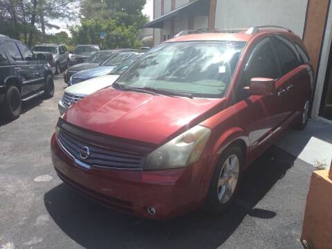 2007 Nissan Quest for sale at LAND & SEA BROKERS INC in Pompano Beach FL