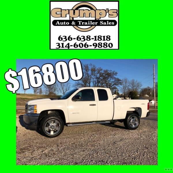 2012 Chevrolet Silverado 2500HD for sale at CRUMP'S AUTO & TRAILER SALES in Crystal City MO