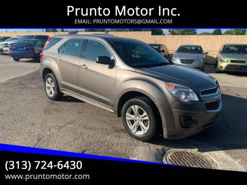 2010 Chevrolet Equinox for sale at Prunto Motor Inc. in Dearborn MI