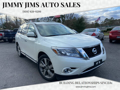 2015 Nissan Pathfinder for sale at Jimmy Jims Auto Sales in Tabernacle NJ