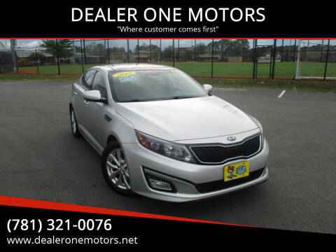 2015 Kia Optima for sale at DEALER ONE MOTORS in Malden MA