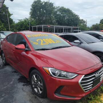 2018 Hyundai Elantra for sale at America Auto Wholesale Inc in Miami FL