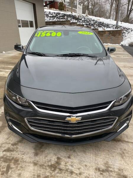 2018 Chevrolet Malibu for sale at Route 28 Auto Sales in Ridgeley WV