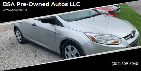2013 Ford Focus for sale at BSA Pre-Owned Autos LLC in Hinton WV
