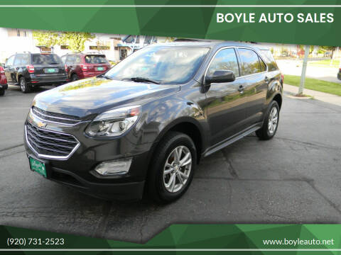 2016 Chevrolet Equinox for sale at Boyle Auto Sales in Appleton WI