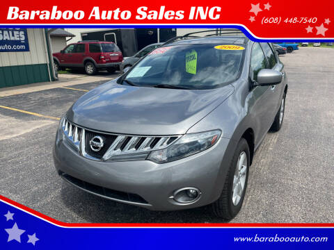 2009 Nissan Murano for sale at Baraboo Auto Sales INC in Baraboo WI