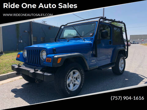 2003 Jeep Wrangler for sale at Ride One Auto Sales in Norfolk VA