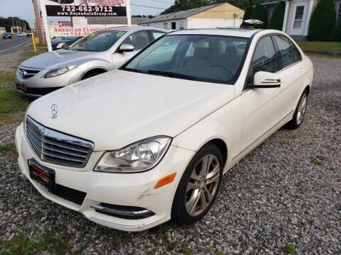 2012 Mercedes-Benz C-Class for sale at Reyes Automotive Group in Lakewood NJ