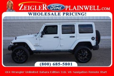 2015 Jeep Wrangler Unlimited for sale at Zeigler Ford of Plainwell- michael davis in Plainwell MI